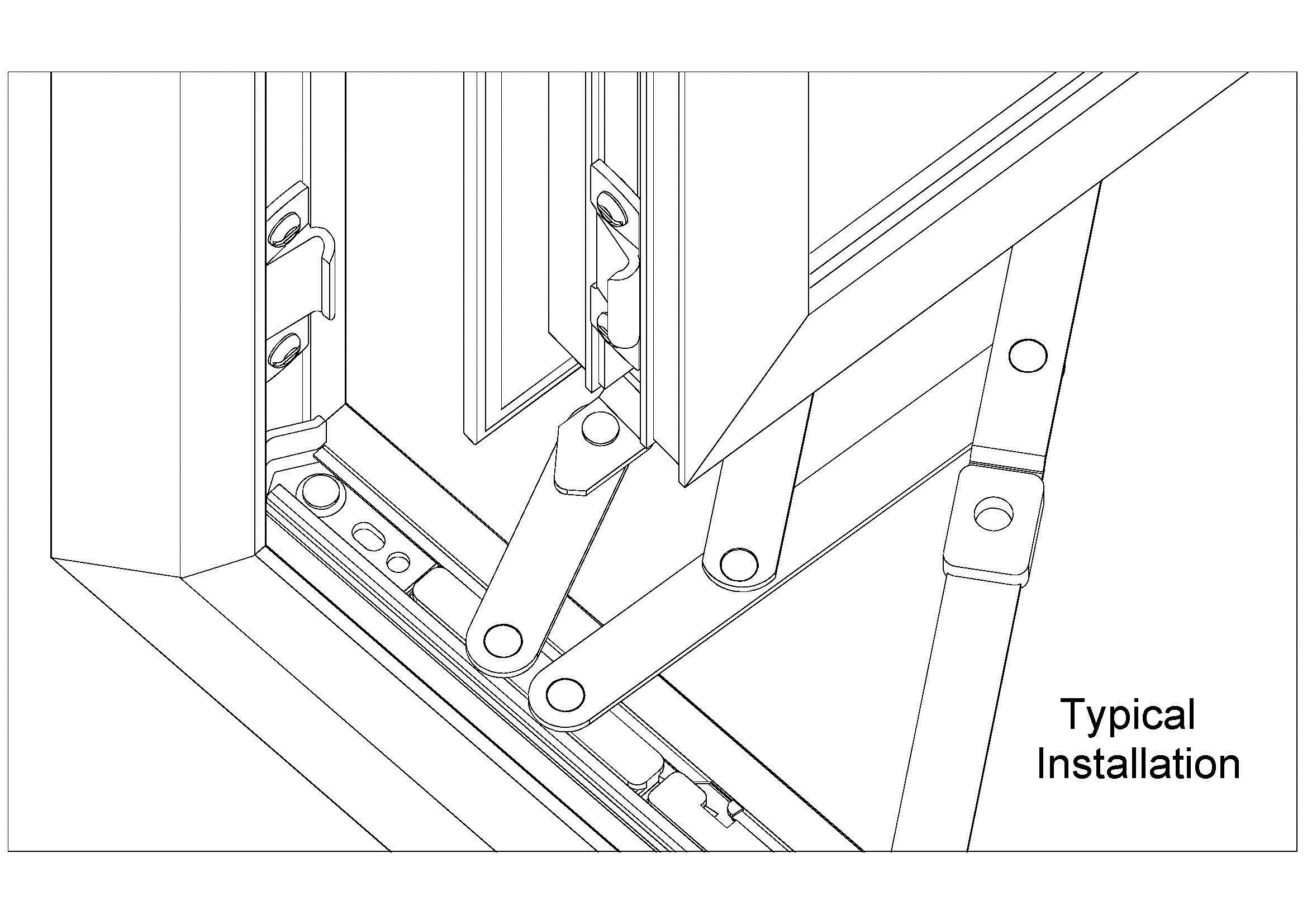 D77 Typical X-tra Bolt on Window Installation drawing jpeg
