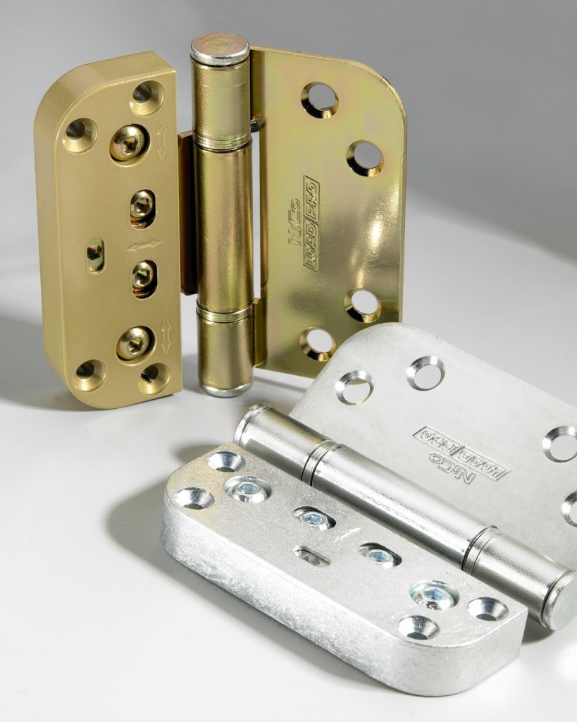 Nico manufacturing ltd for Adjustable hinges for exterior doors